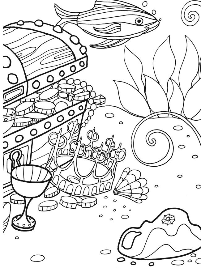 vbs deep sea adventure coloring pages | Welcome to Dover Publications Under the Sea Adventure ...
