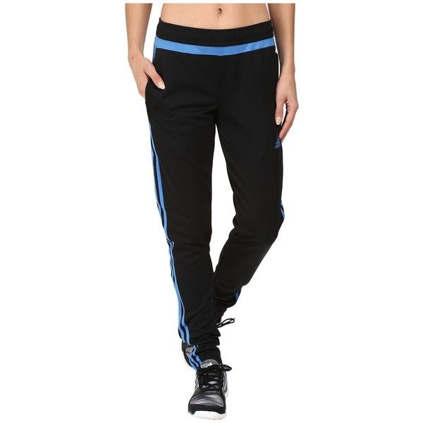 adidas Tiro 15 Training Pant (Black/Ray Blue/Black) Women's Casual.
