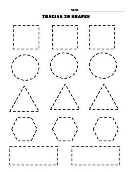 tracing 2d shapes math tracing worksheets tracing lines beginning of school. Black Bedroom Furniture Sets. Home Design Ideas