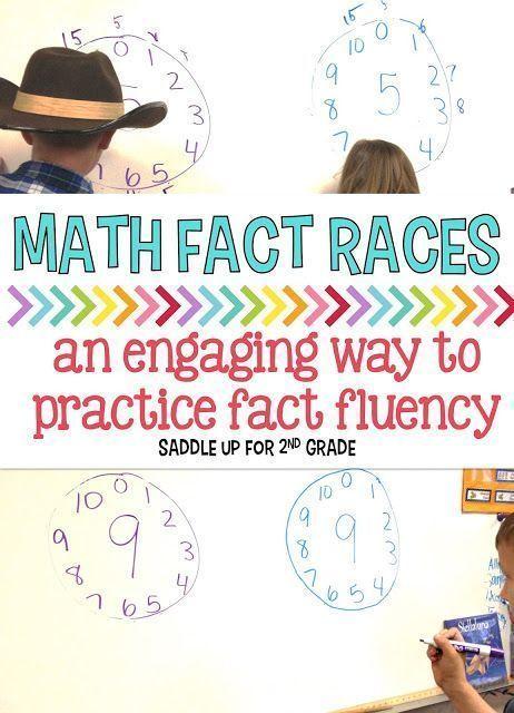 Math Fact Fluency Races | Math facts, Maths and Multiplication