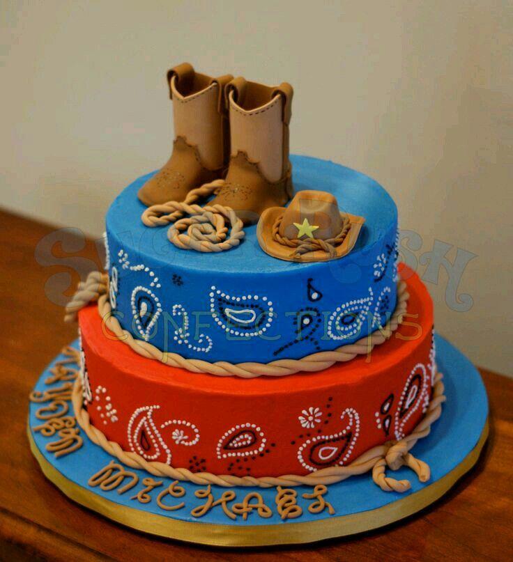Pañuelos Y Botas Cowboy Cakes Fiestas De Cumpleaños De
