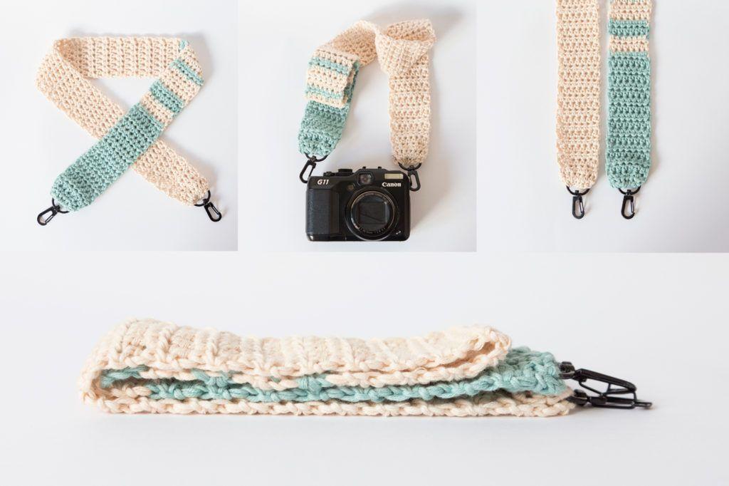 Aprende a hacer una correa de crochet para tu cámara | Crochet ...
