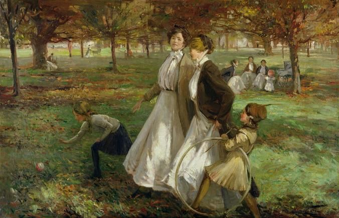 James Wallace 1872 1911 British Painter Kensington Gardens