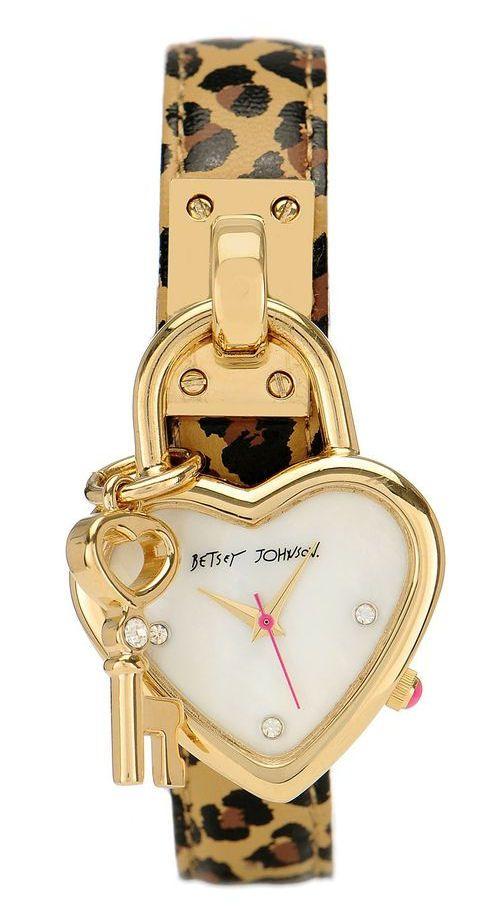 Heart Lock Leopard Watch ♥