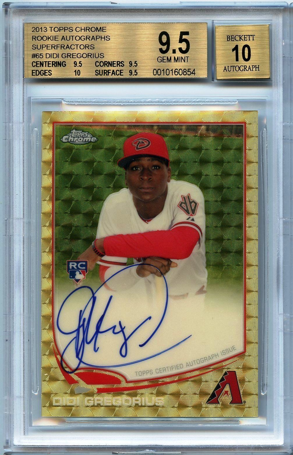 2013 Topps Chrome 11 Superfractor Auto Didi Gregorius Rc
