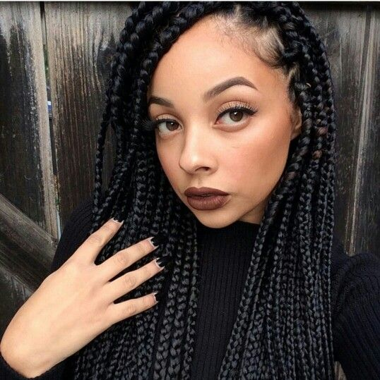 Lightskin With Dark Braids Hair Nails Makeup In 2019