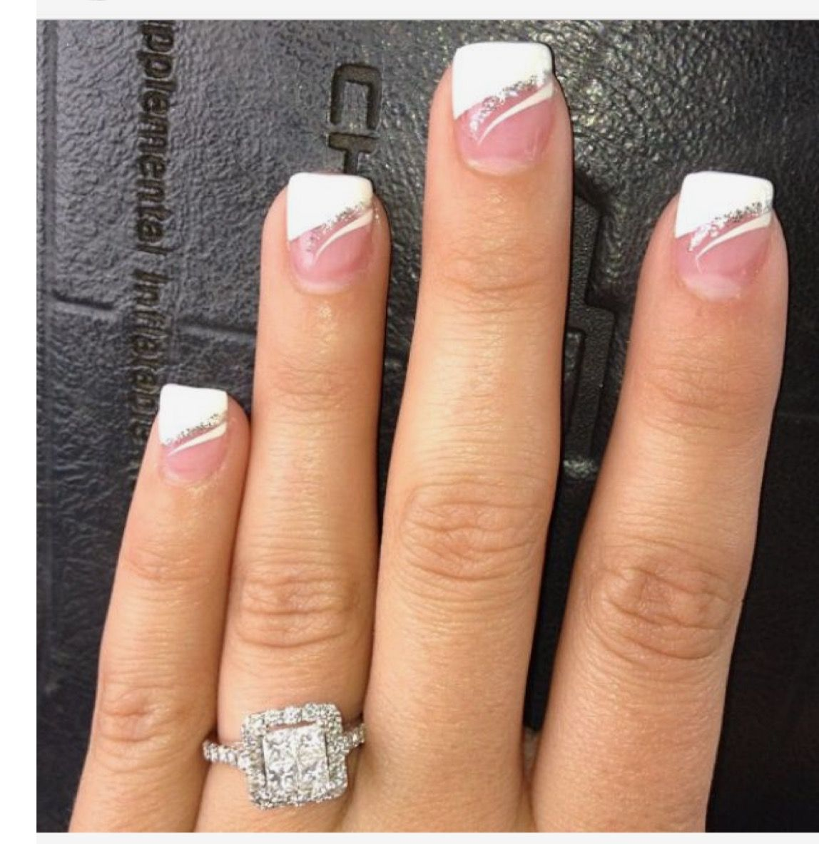Fancy Manicure Salon Decoration: Fancy French Manicure!