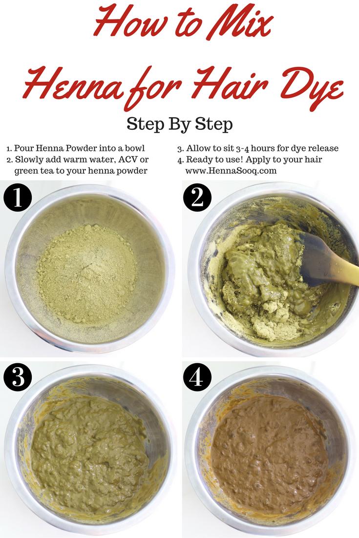 1. pour henna powder bowl