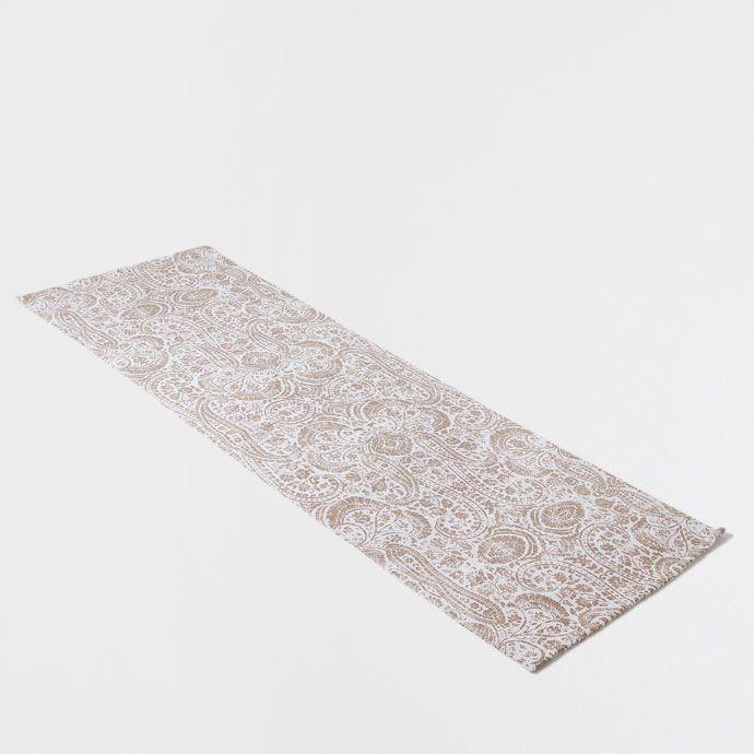 Zara Home Teppich baumwollteppich mit damastprint teppiche dekoration zara home
