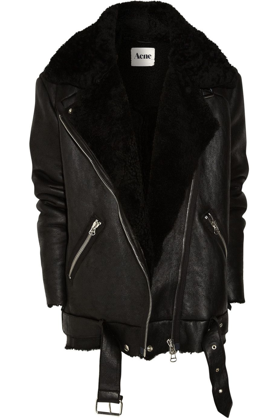 Acne Velocite shearling oversized aviator jacket 2,480