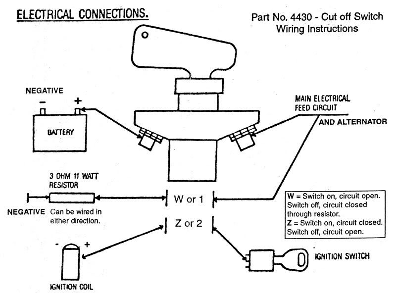how to wire a battery cut off switch scca - google search