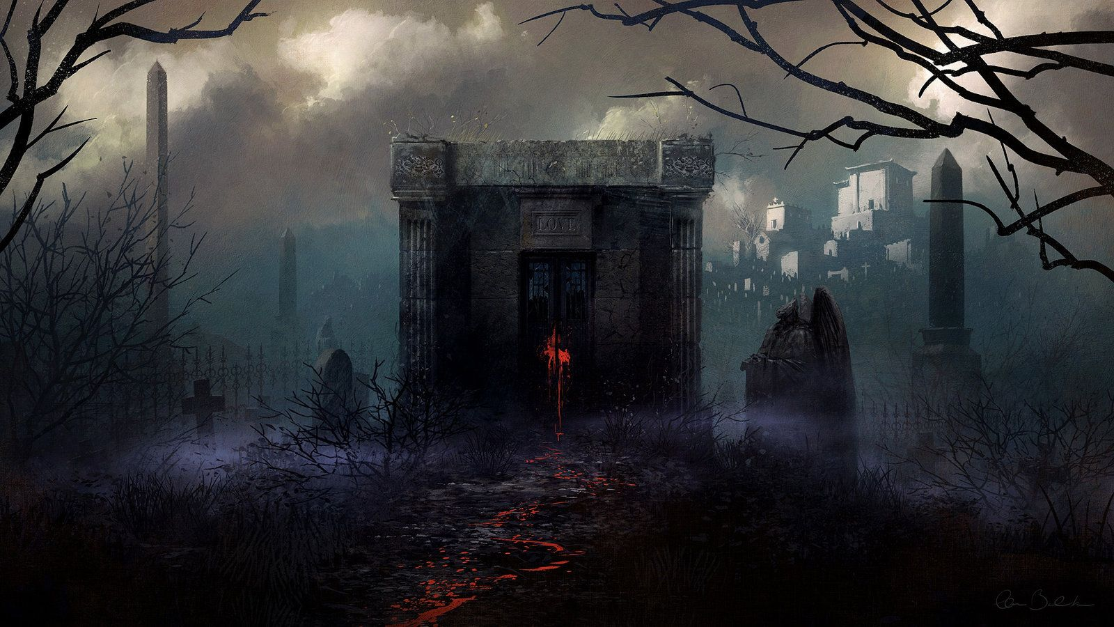 Fantasy Art Necropolis
