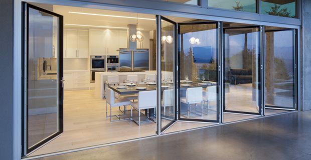 The NanaWall SL82 folding door system | Burnaby Residence & The NanaWall SL82 folding door system | Burnaby Residence ... Pezcame.Com