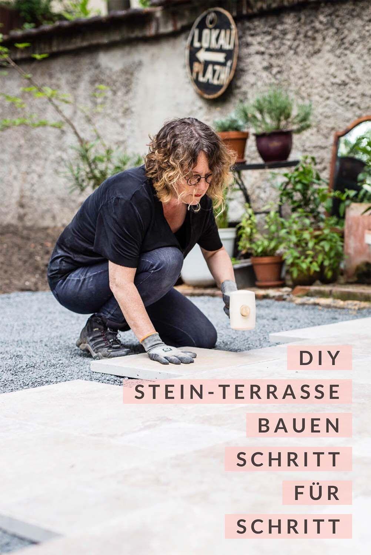 Terrasse Im Garten Neu Gestalten Teil 2 Bauanleitung Garten Neu Gestalten Natursteinplatten Terrasse Bauen