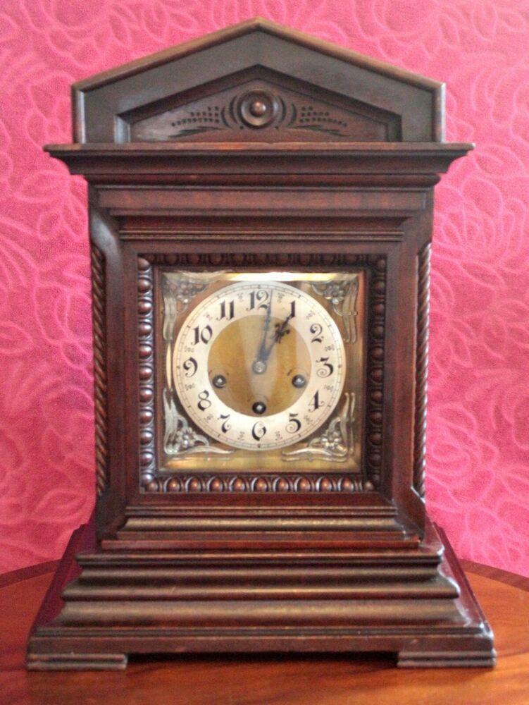ANTIQUE JUNGHANS WURTTEMBERG BRACKET 8-DAY MANTEL CLOCK