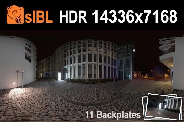 HDR 138 City Night Place Plates | Hdr | Modern buildings