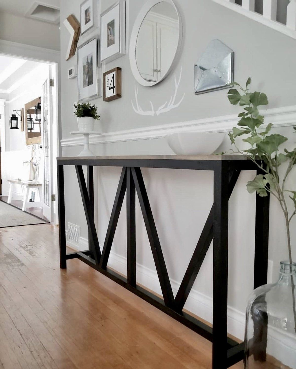 Farmhouse V Console Table (With images) Farmhouse