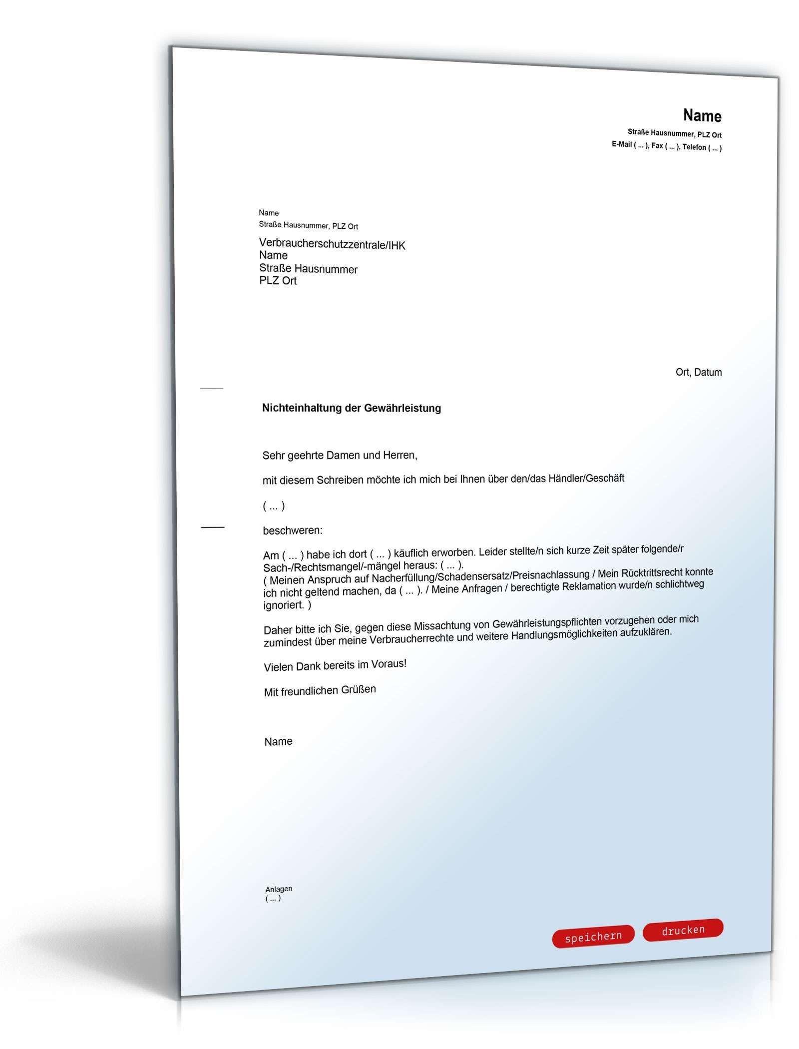Frisch Musterschreiben Schadensersatz Briefprobe Briefformat Briefvorlage Vorlagen Word Lebenslauf Rechnung Vorlage