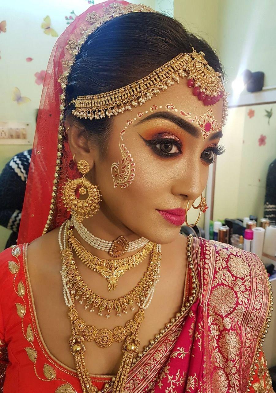 Bengali Wedding Makeup Indian wedding makeup, Bengali