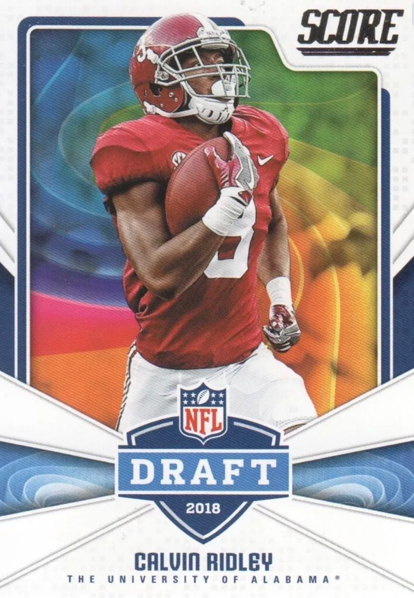 Calvin Ridley Nfl 2018 Rookie Card From Score Nfl Draft Card Alabama Rolltide Bama Builtbyb Alabama Crimson Tide Alabama Football Quotes Alabama Football