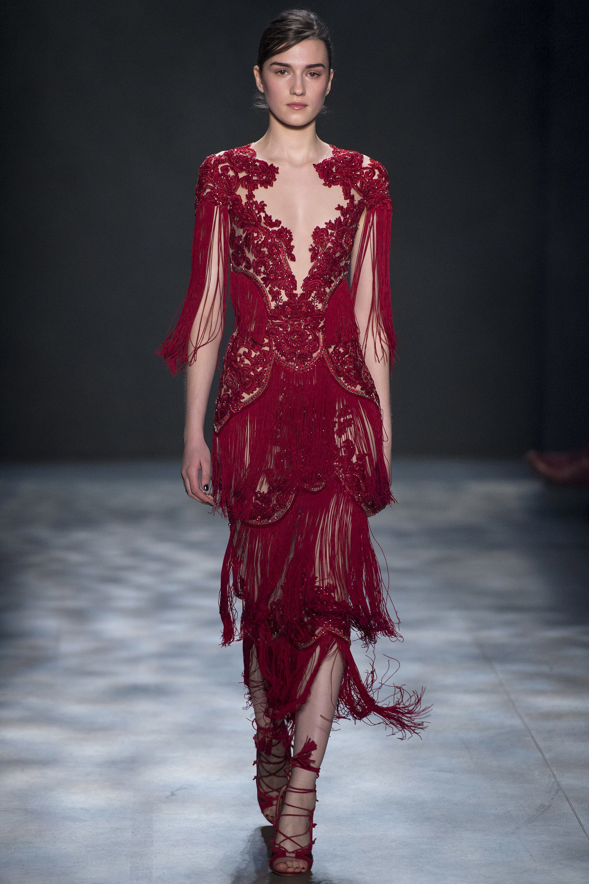 Red dress collection fall 2017 runway