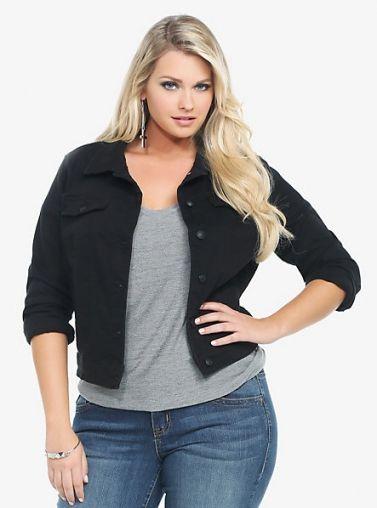 b611d0a2fa8 Torrid Denim Jacket – Black