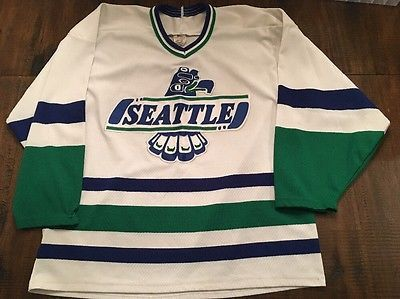 Vtg-CCM-Seattle-Thunderbirds-WHL-Jersey -M-Authentic-Hockey-Pro-Team-Maska-RARE 9804ad0c5f8