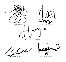 Signatures Des One Direction One Direction W Kawaii Ichigo Liked On Polyvore One Direction Directions Signature