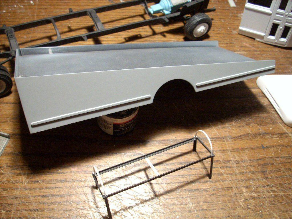 Junkyard Models | 1950 Ford Bus/Stock Car Hauler | tow trucks ...