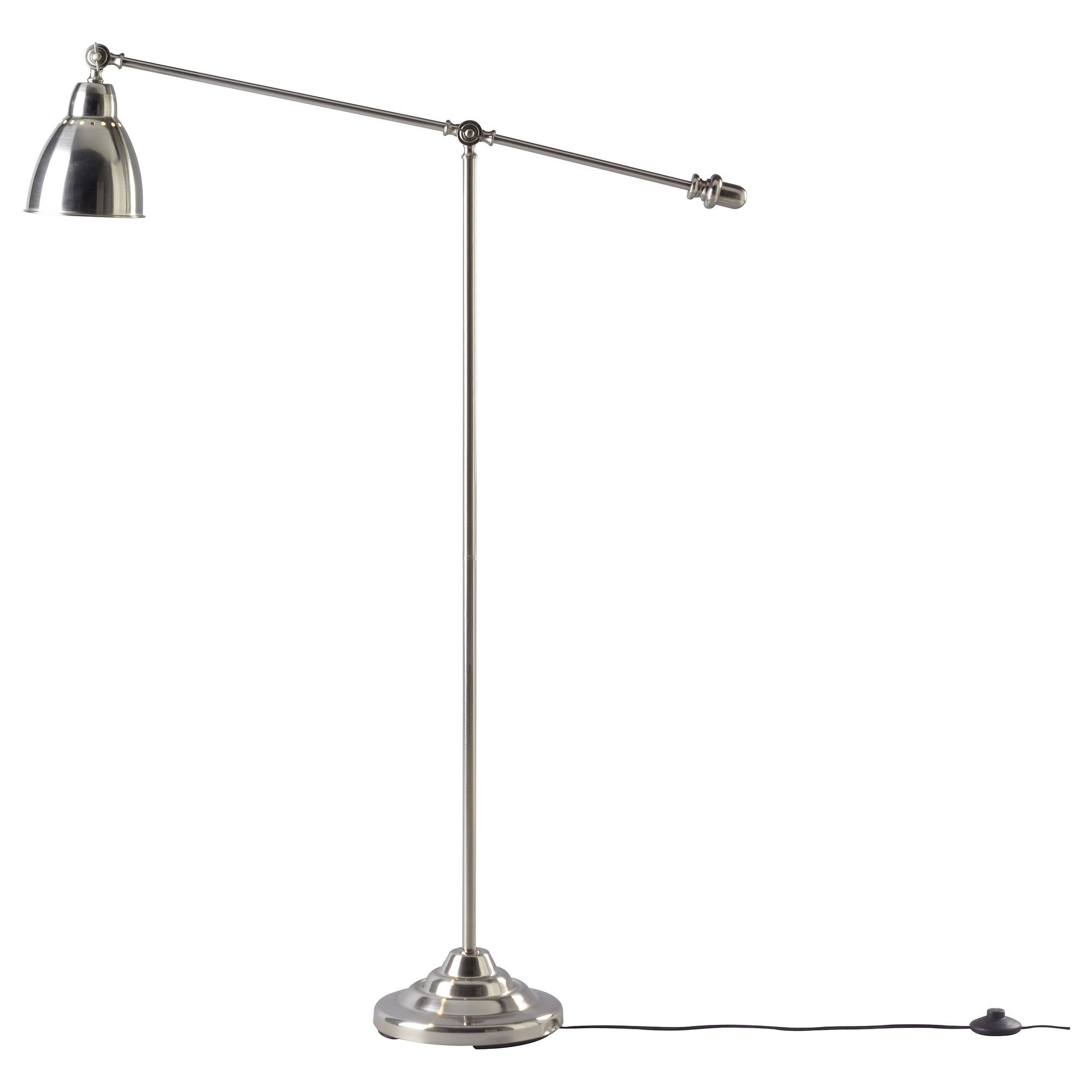 IKEA BAROMETER Floor/reading Lamp Nickel Plated You Can Easily Direct The  Light Where You Want It Because The Lamp Arm And Head Are Adjustable. Part 98