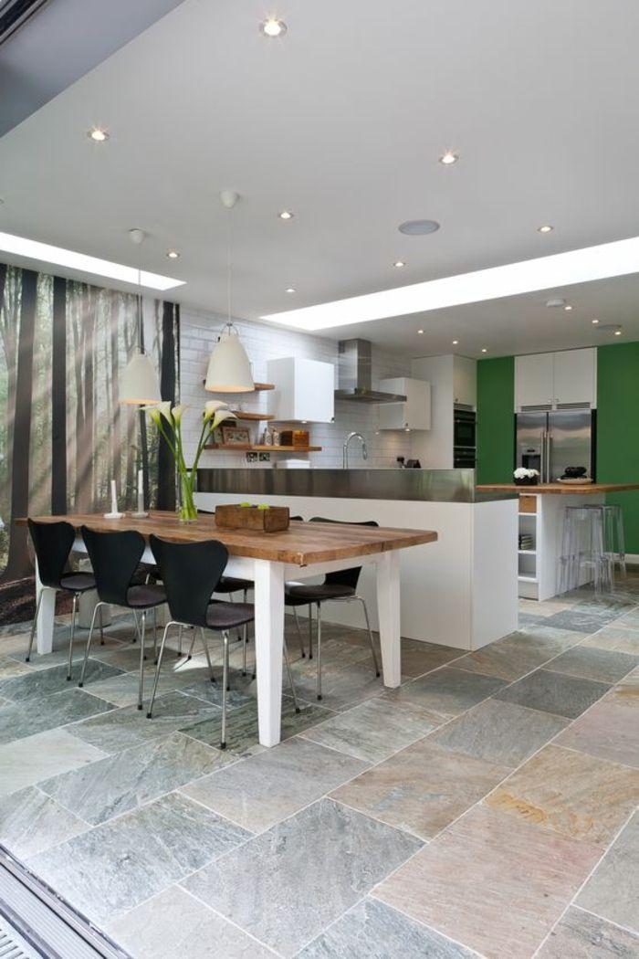 Küchengestaltung Ideen Küchenbilder Wandfarbe Grün | Einrichten und ...