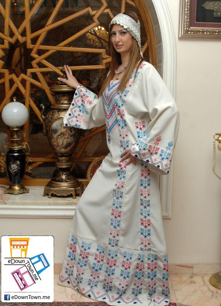 Edwontown Me وسط البلد الملابس ثوب مطرز فلاحي Traditional Outfits Traditional Dresses Arabian Dress