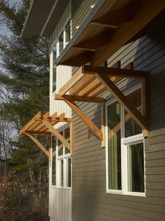 Wood Awnings Over Windows Inspiration Pinterest Woods