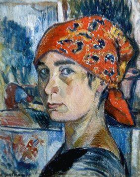 Natalia Goncharova - Self-Portrait. 1907-1908 | Portrait painting ...