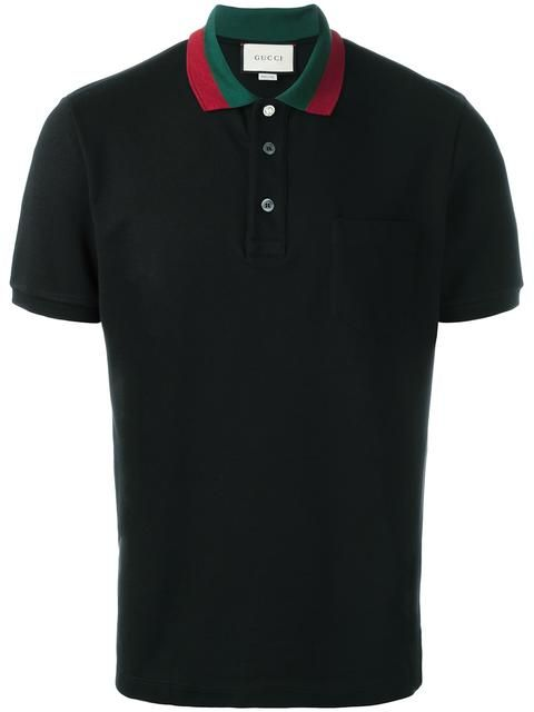 56d913b0dc5 Gucci striped collar polo shirt