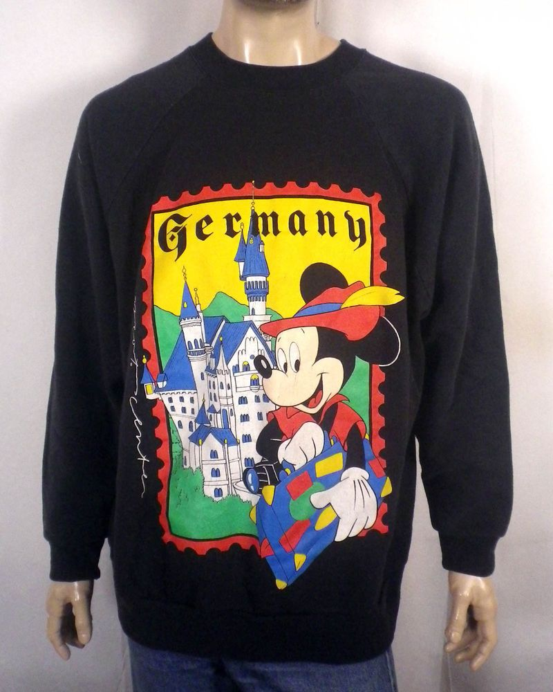vtg 80s RARE original Mickey Mouse Germany Sweatshirt Epcot Center german  3X 4X 68413e2c2