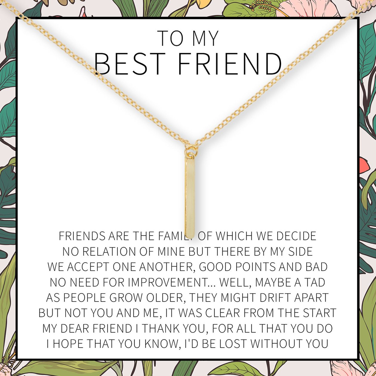 Best Friends Necklace Birthday Quotes For Best Friend Best Friend Notes Friend Necklaces