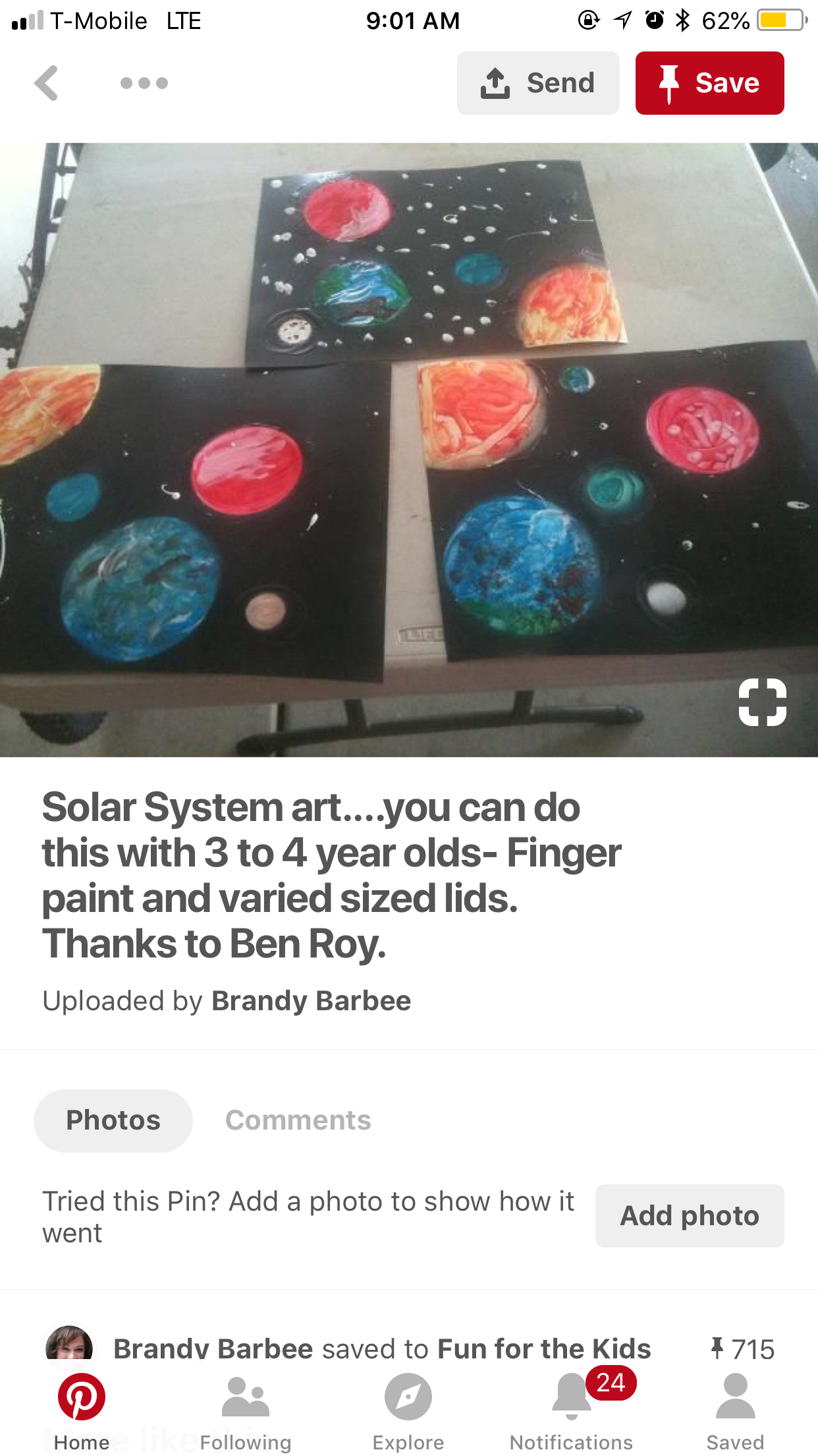 Pin by Dana Farhat on Crafts Solar system art, Finger