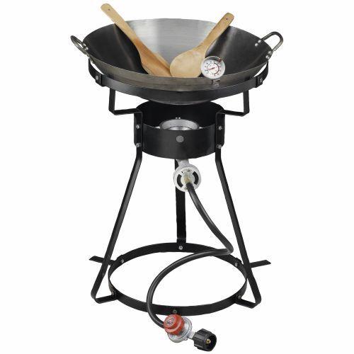 Outdoor Gourmet Fryers 35 000 Btu Propane Wok Package