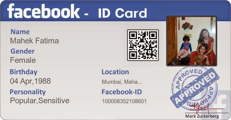 Maker Maker Facebook Create Card Facebook Identity Cards Id