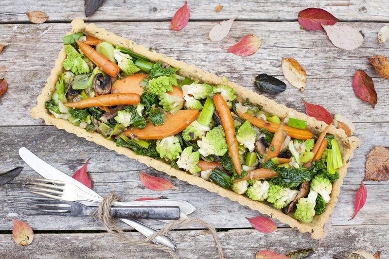 vegan and gluten free vegetable tart @Karen Williams @Alexandra Holt @Katie Mosher