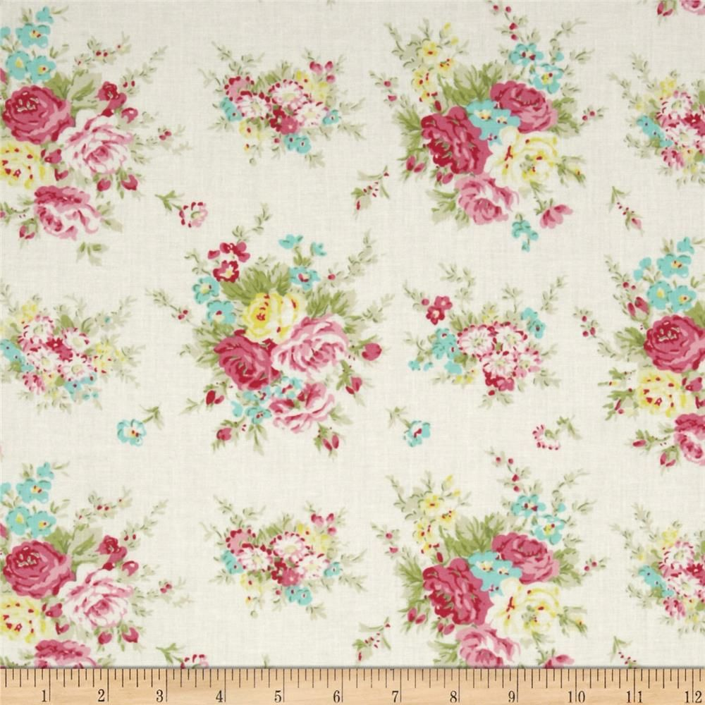 Tanya Whelan Rosey Little Bouquet Ivory from @fabricdotcom Designed ...