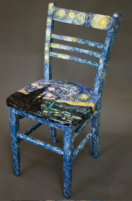 painted chair - Google Search | indoor creative decoration ...