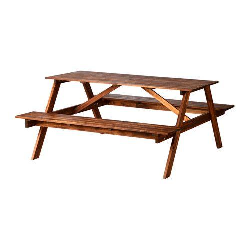 Great FRUHOLMEN Picnic Table Brown 150x149x70 Cm