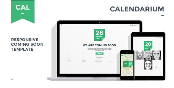 Calendarium - Responsive Coming Soon Template Pinterest Image