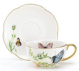 $17.15 Porcelain Butterfly Teacup And Saucer Set With Gold Trim Fine Dining And Table Decor  From Wings Of Grace Collection   Get it here: http://astore.amazon.com/ffiilliipp-20/detail/B000MISOM6/187-9194822-0959065