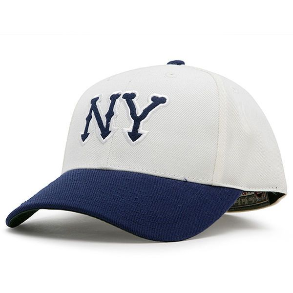 New York Yankees American Needle Cooperstown Fitted Hat - Tan Navy ... e3e39533c