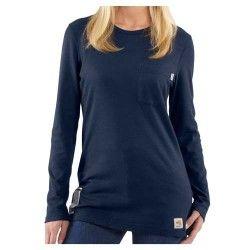 Carhartt Women's Flame Resistant Long Sleeve T-Shirt WFRK294