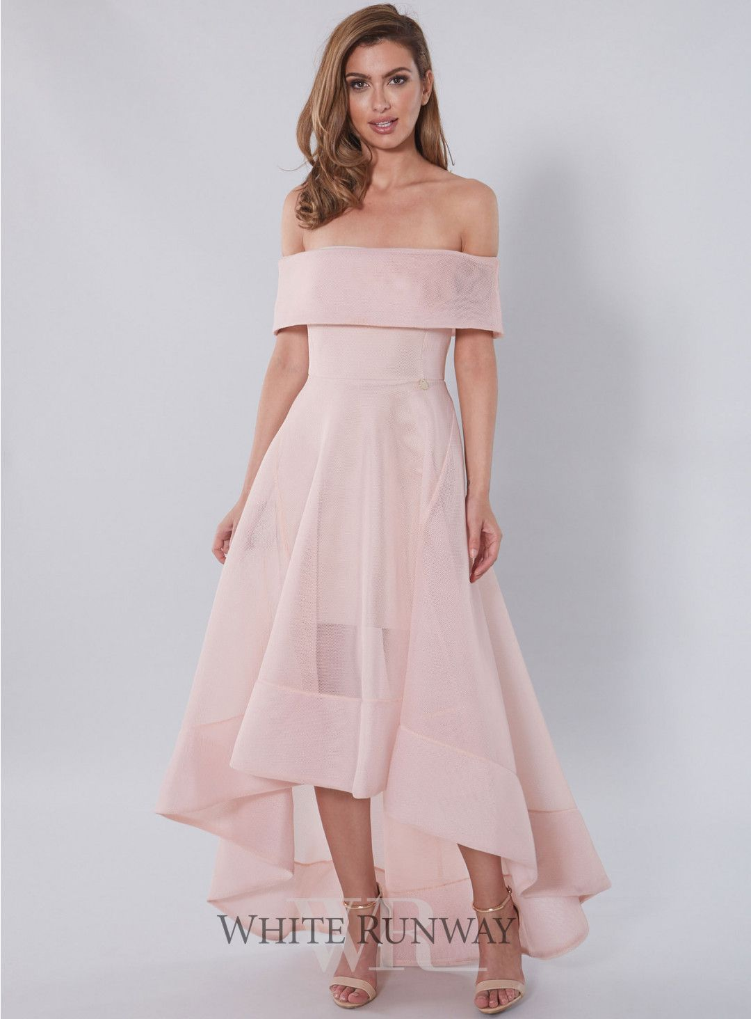 Tulip dress a contemporary gown by bronx banco a flattering tulip dress a contemporary gown by bronx banco a flattering off shoulder style ombrellifo Choice Image