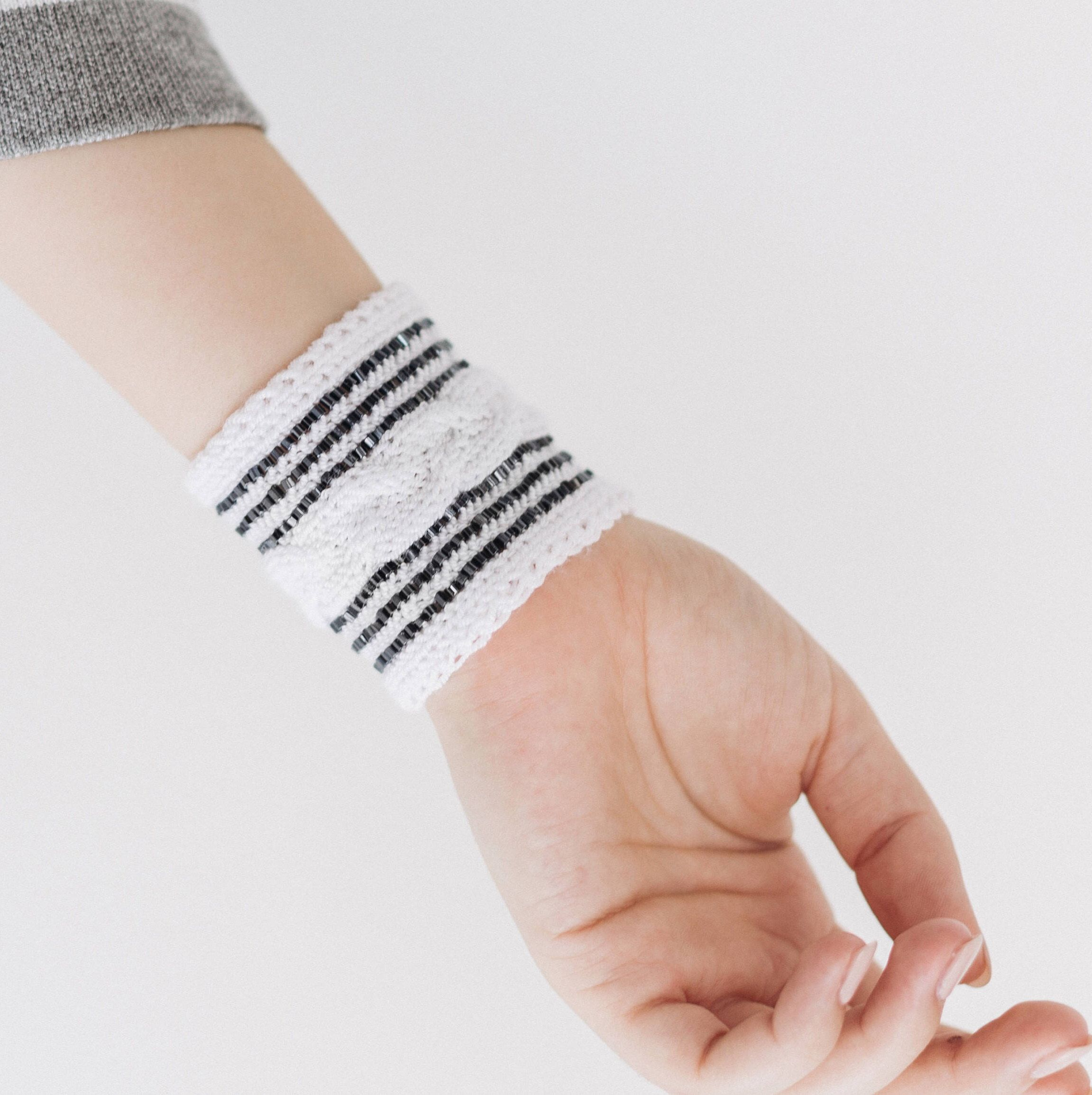 Womens gothic bracelets statement wife gift white cuff jewelry